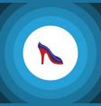 isolated sandal flat icon heeled shoe vector image