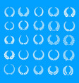Laurel wreath icons set simple style