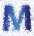 letter M low poly vector image vector image