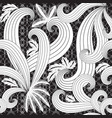 line art tracery ornamental floral seamless vector image