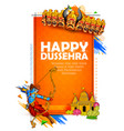lord rama with bow arrow killing ravan vector image vector image