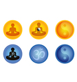 meditation signs vector image vector image