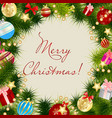 Merry Christmas Card Frame vector image vector image