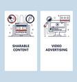 mobile app onboarding screens video advertising vector image vector image