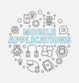 mobile applications round in vector image