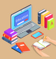 online distance education isolated vector image