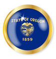 oregon flag button vector image vector image
