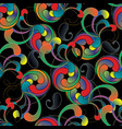paisleys seamless pattern abstract colorful vector image vector image