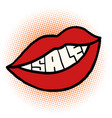 pop art mouth sale vector image vector image