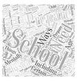 Preparing for School Word Cloud Concept vector image vector image