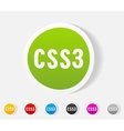 realistic design element CSS3 vector image vector image