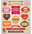 Retro Label Sets vector image vector image