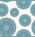 seamless pattern with curly circles paper craft vector image vector image