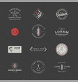 set of minimal vintage hipster logotype templates vector image vector image