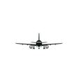 simple black Aircraft or Airplane icon on white vector image