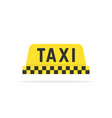 simple color taxi sign vector image vector image