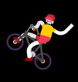 skeleton on bicycle skull and bmx boy skeletons vector image vector image
