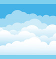 sky and clouds cartoon cloudy background heaven vector image