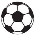 soccer ball black vector image vector image