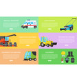 special machines and protective equipment banners vector image