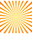sun rays orange background vector image vector image