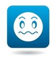 Surprised emoticon icon simple style vector image vector image