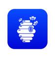 swarm icon blue vector image vector image