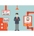 system human resources management vector image