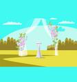 wedding arch flat vector image vector image