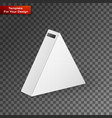 white product triangle package box mock up vector image vector image