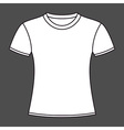 White t-shirt design template vector image