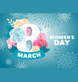 womens day greeting design vector image vector image