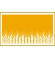 yellow label with wheat ears vector image vector image