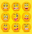emoticon smiley cartoon set vector image