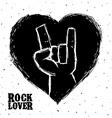 hard rock design vector image
