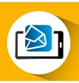 mobile phone icon open envelope social media vector image
