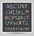 Handwritten English alphabets and digits vector image