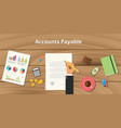 accounts payable with businessman working on vector image vector image