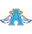 angel sports team logo vector image