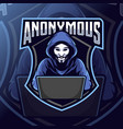 anonymous mascot logo esport vector image vector image
