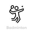 badminton sport icons vector image