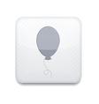 balloon white icon vector image