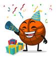 basket ball mascot or character vector image vector image
