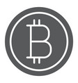 bitcoin glyph icon money and finance vector image vector image