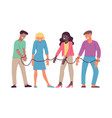 bound by one chain people vector image vector image