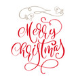 calligraphic inscription merry christmas and a vector image vector image