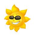 cartoon sun in sunglasses vector image vector image