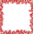 Christmas border with snowflakes vector image vector image