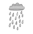 cloud with decorated rain drops vector image