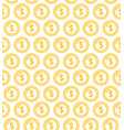 coins signs seamless pattern background vector image